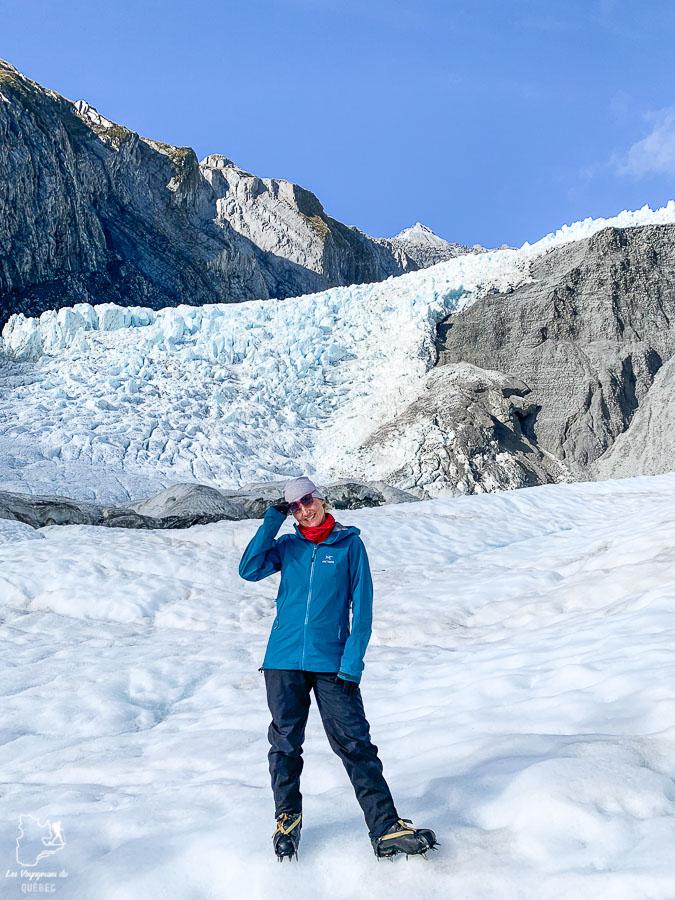 Sur le glacier Fok en Nouvelle-Zélande dans mon article La randonnée en Nouvelle-Zélande: 5 randonnées à faire sur l'île du Sud en Nouvelle-Zélande (de 1 à 4 jours) #nouvellezelande #oceanie #randonnee #trek #voyage #trekking #nature #glacierfox #iledusud