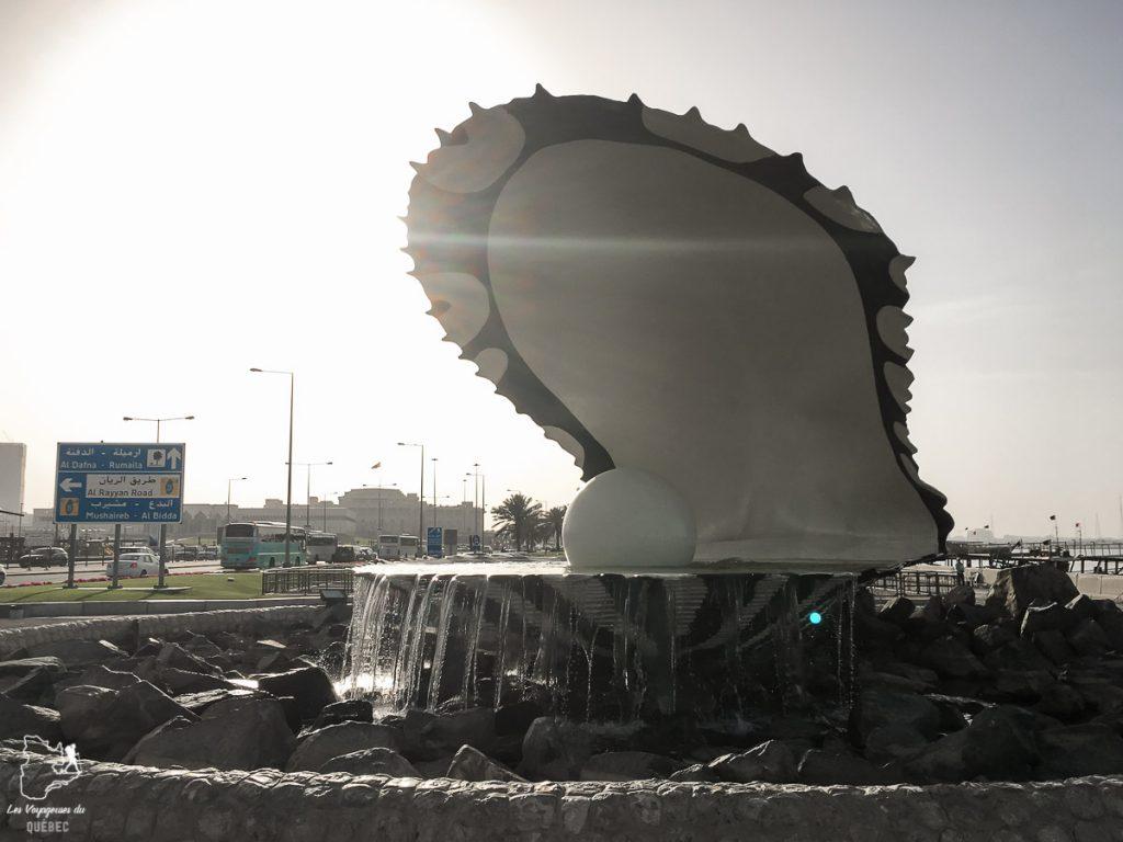 The Pearl, un monument à Doha dans notre article Visiter Doha au Qatar: Que faire pendant une escale à Doha de 24 heures #doha #qatar #voyage #escale