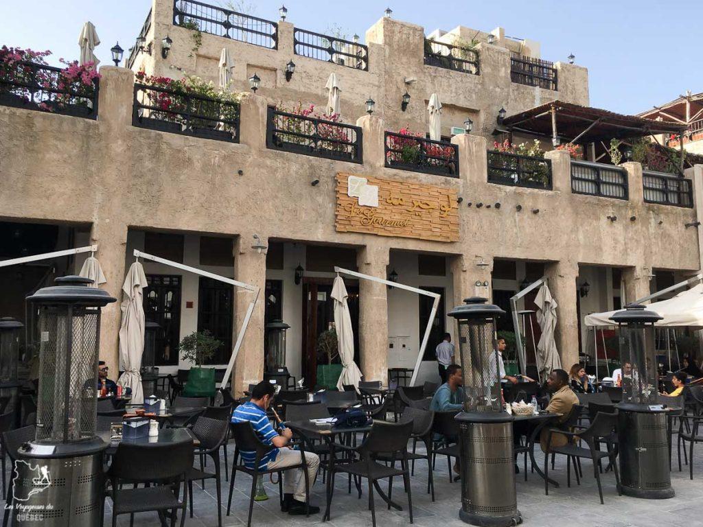 Restaurant dans le centre de Doha dans notre article Visiter Doha au Qatar: Que faire pendant une escale à Doha de 24 heures #doha #qatar #voyage #escale