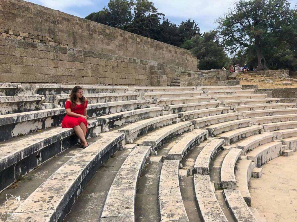 Le théâtre à l'acropole de Rhodes dans mon article Rhodes en Grèce : Petit guide pour savoir que faire à Rhodes et visiter #rhodes #ilesderhodes #rhodesengrece #grece #ile #acropole