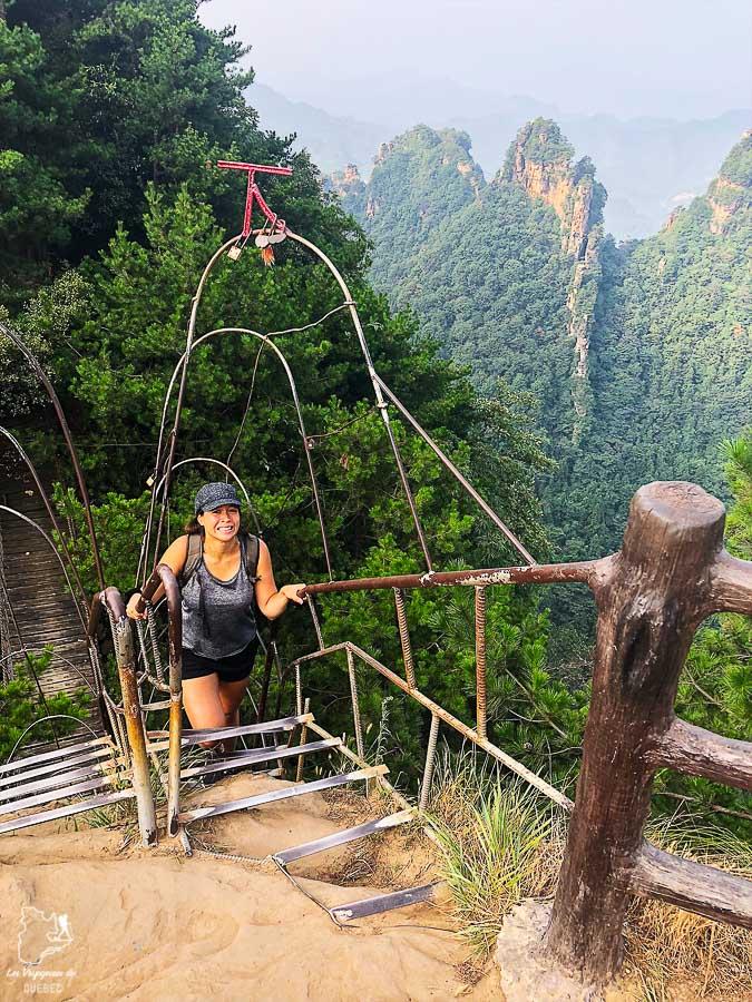 Randonnée à Tianbo dans le parc de Zhangjiajie dans notre article Parc national de Zhangjiajie en Chine : Petit guide pour visiter ce parc #zhangjiajie #chine #avatar #asie #voyage #trek #tianbo