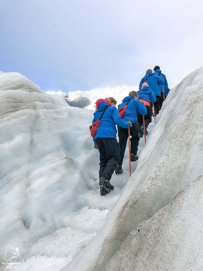 Sur le glacier Franz Joseph en Nouvelle-Zélande dans mon article La randonnée en Nouvelle-Zélande: 5 randonnées à faire sur l'île du Sud en Nouvelle-Zélande (de 1 à 4 jours) #nouvellezelande #oceanie #randonnee #trek #voyage #trekking #nature #glacierfranzjoseph #iledusud