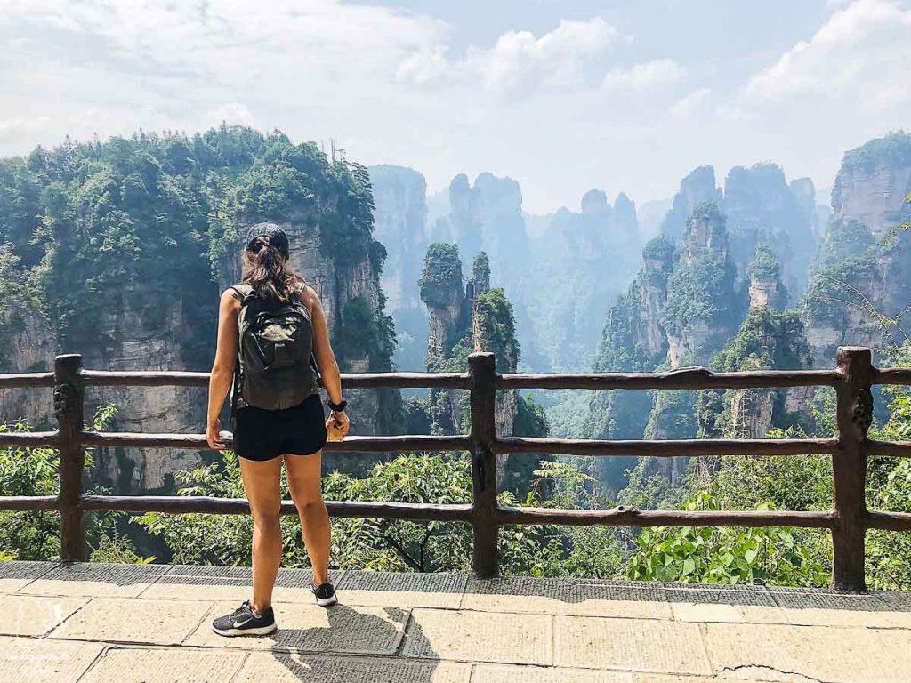 Les paysages du Parc national Zhangjiajie en Chine dans notre article Parc national de Zhangjiajie en Chine : Petit guide pour visiter ce parc #zhangjiajie #chine #avatar #asie #voyage #trek