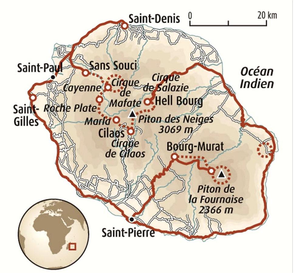 Le circuit Du coeur de Mafate au Piton de la Fournaise de Terre d'Aventure dans notre article Randonnée à l'île de la Réunion : Mon trek à l'île intense en groupe organisé #reunion #iledelareunion #voyage #randonnee #trek