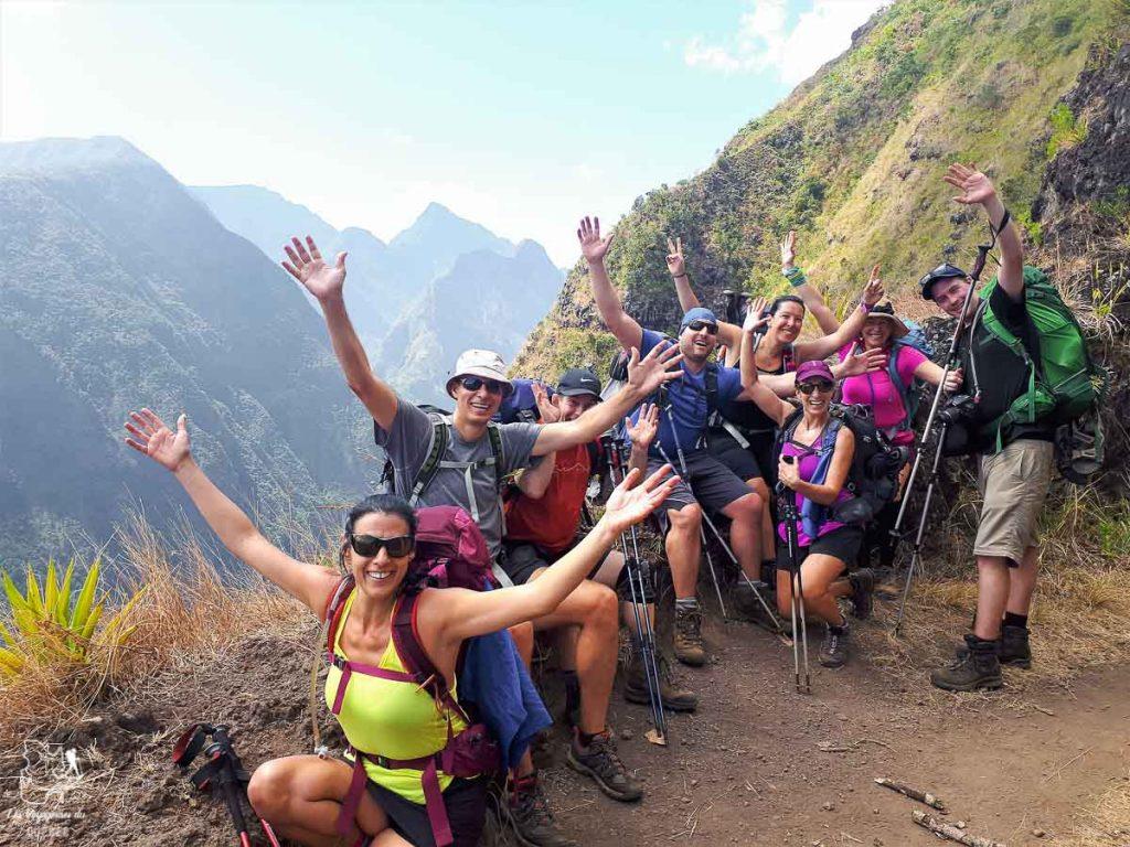 Notre groupe pour la randonnée à l'île de la Réunion dans notre article Randonnée à l'île de la Réunion : Mon trek à l'île intense en groupe organisé #reunion #iledelareunion #voyage #randonnee #trek