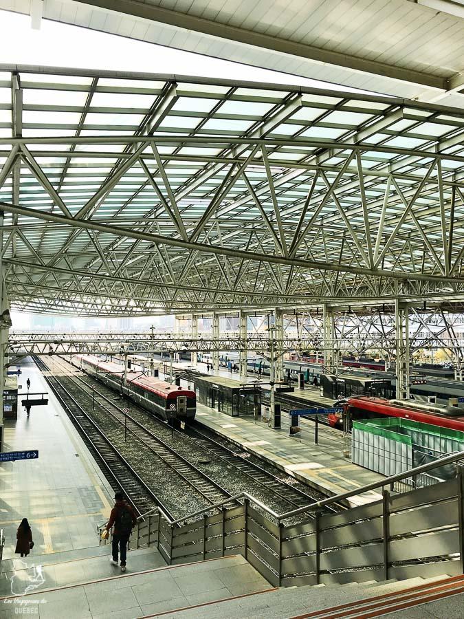 Train à Suwon dans notre article Suwon et sa forteresse Hwaseong : Que faire dans cette ville de Corée du Sud #suwon #coreedusud #asie #voyage #hwaseong