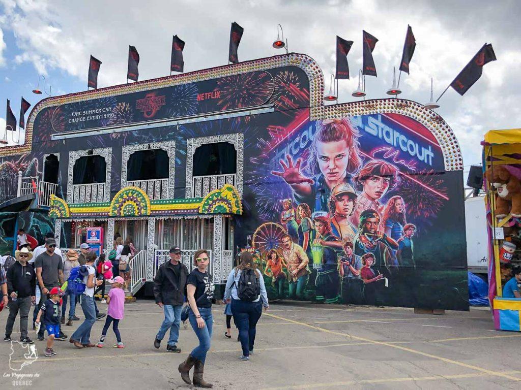 Fête foraine au Stampede de Calgary dans notre article Le Stampede de Calgary : Visiter Calgary au Canada pendant le grand rodéo #stampede #rodeo #calgary #alberta #canada #festival