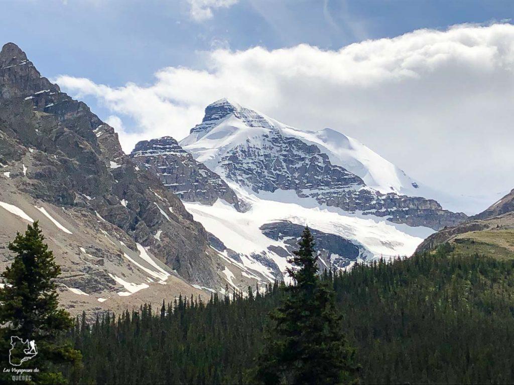 Sur Icefields Parkway dans les Rocheuses canadiennes dans notre article Rocheuses canadiennes : road trip de 3 jours entre Banff et Jasper #rocheuses #rocheusescanadiennes #ouestcanadien #canada #voyage #montagne #alberta #jasper
