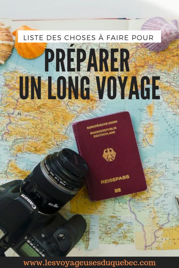 Quoi faire avant un long voyage? Liste pour ne rien oublier