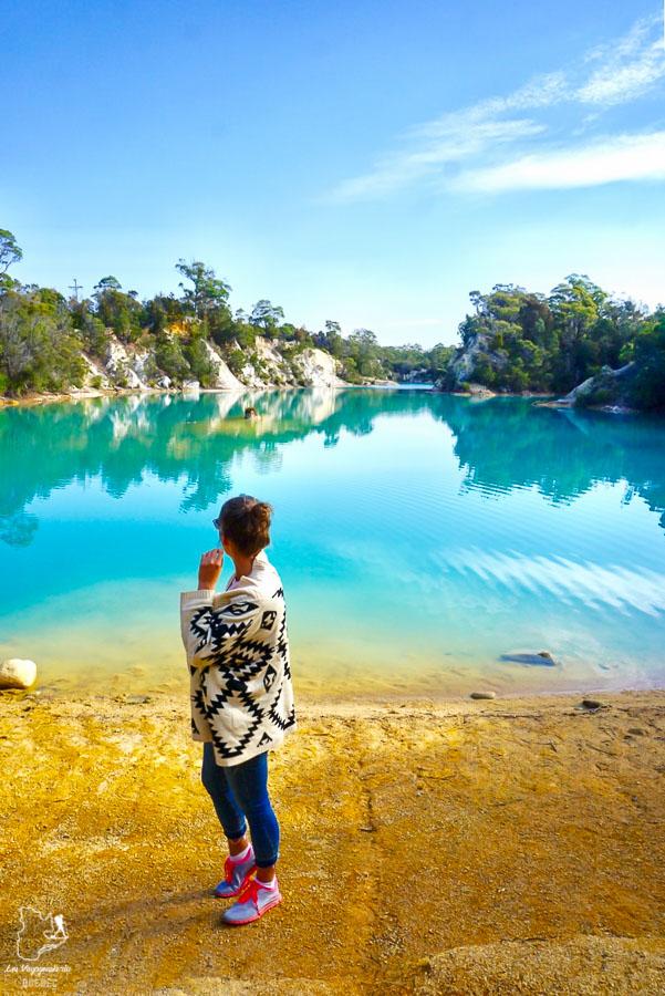 Little Blue Lake à visiter en Tasmanie dans notre article Que faire en Tasmanie : Mon itinéraire de road trip à travers l'île de Tasmanie #tasmanie #australie #ile #voyage #roadtrip