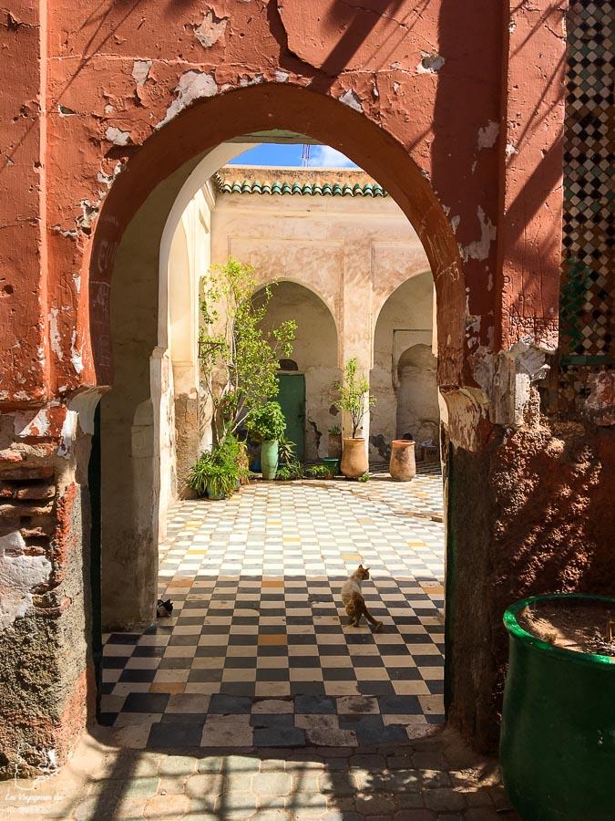 La médina de Marrakech au Maroc dans notre article Itinéraire au Maroc : Que faire au Maroc et visiter en tant que femme #maroc #itineraire #voyageaufeminin #femme #voyage #Marrakech