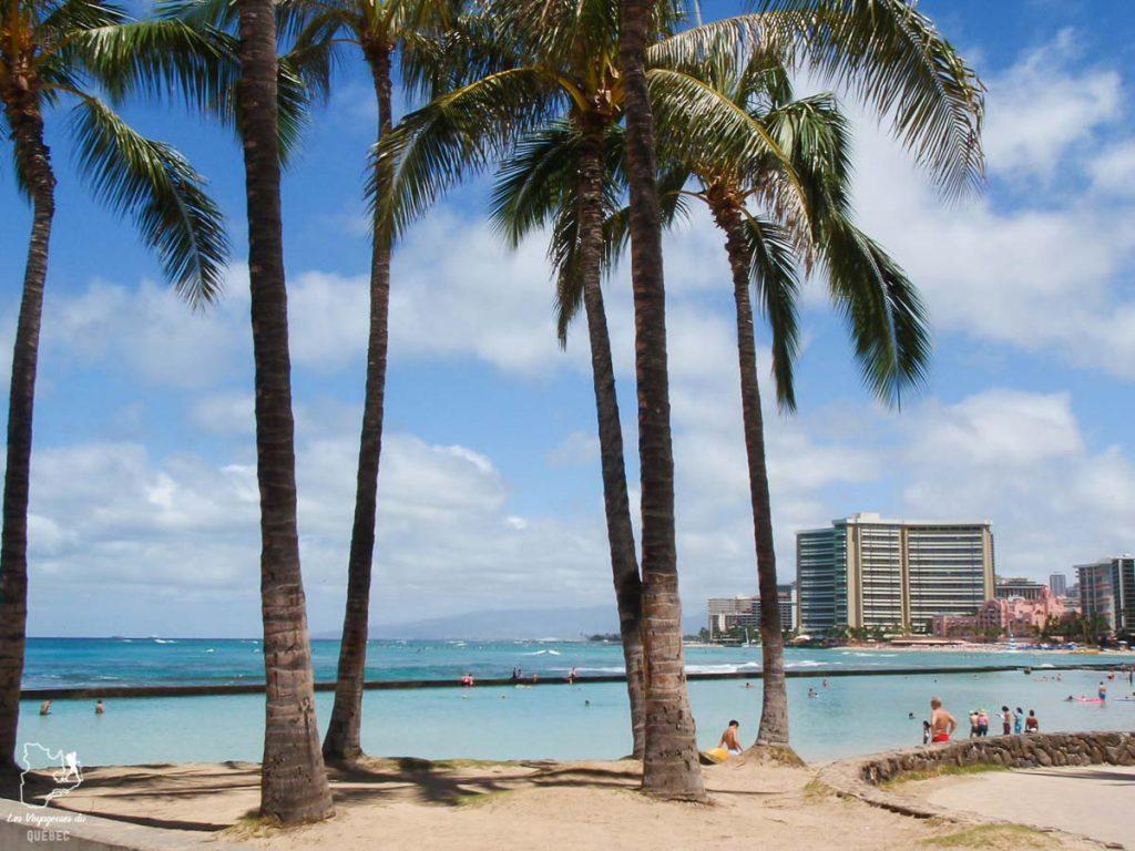 La plage de Waikiki dans notre article Waikiki à Hawaii en 10 coups de coeur : destination plage et surf d'Oahu #waikiki #hawaii #oahu #voyage #surf #plage