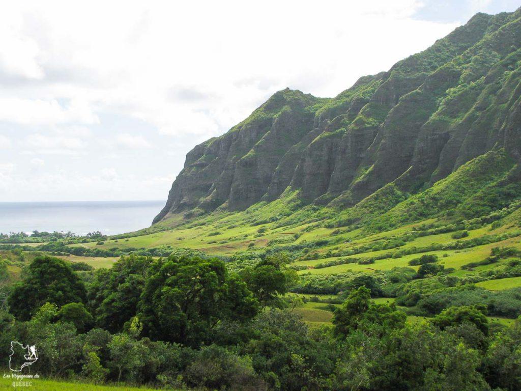 Kualoa Ranch sur l'île d'Oahu dans notre article L'île d'Oahu à Hawaii : Activités incontournables à faire lors d'un road trip #oahu #roadtrip #ile #hawaii