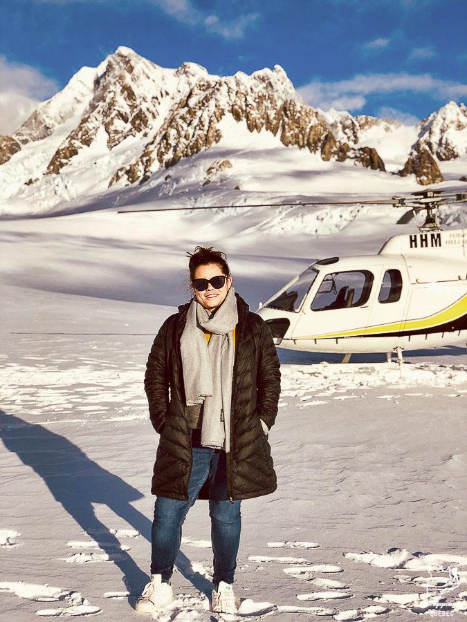 Survoler le glacier Franz Josef en hélicoptère, parmi les grands incontournables de la Nouvelle-Zélande dans notre article 5 incontournables de la Nouvelle-Zélande : Choses à faire au pays des kiwis #nouvellezelande #oceanie #voyage #incontournables #coupsdecoeur #franzjosef #glacier #helicoptere
