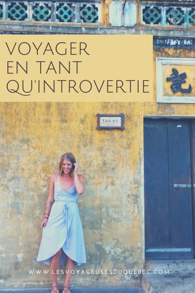 Voyager tout en étant introvertie