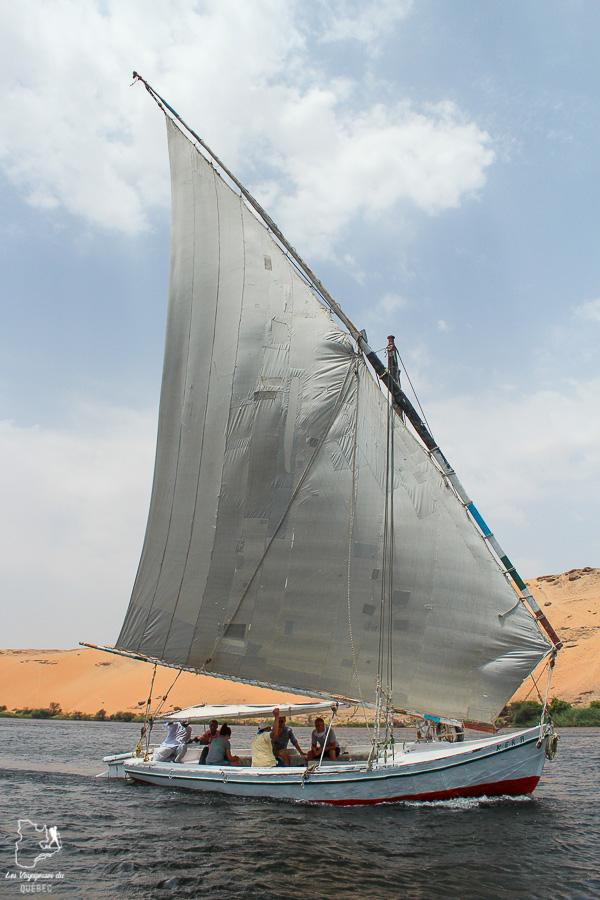 Felouque à Assouan sur le Nil en Égypte dans notre article Le Nil en Égypte : L'itinéraire de mon voyage sur le Nil en train #egypte #nil #afrique #train #voyage #assouan