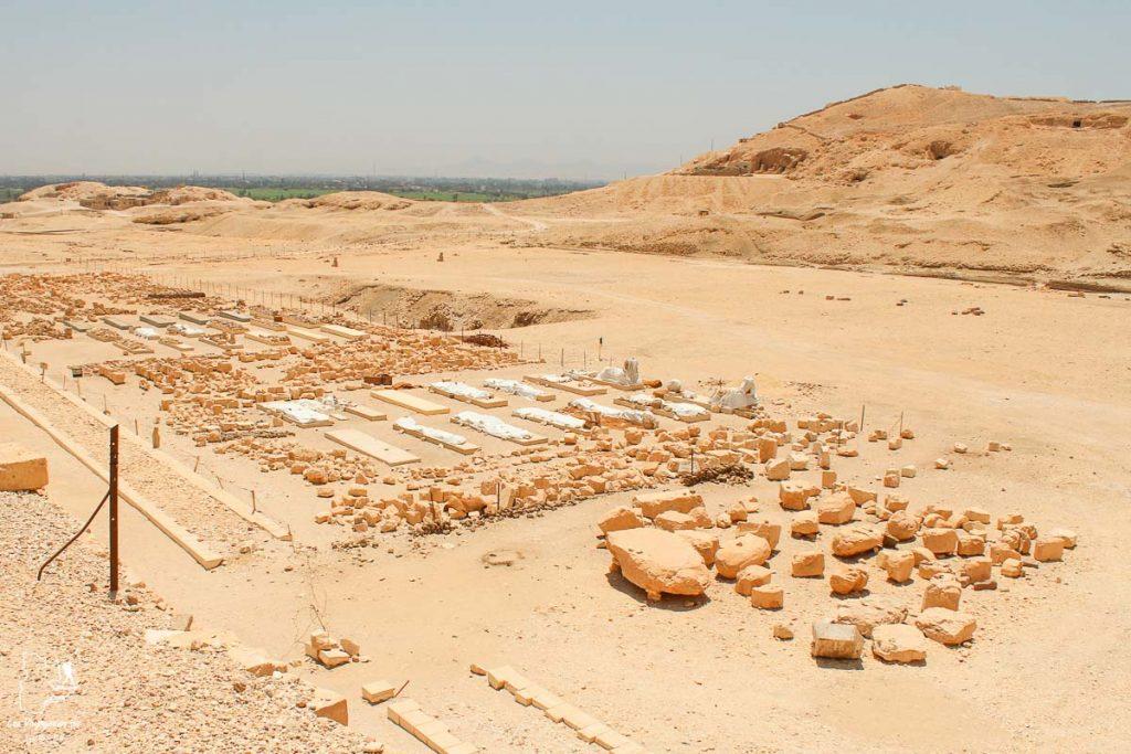 Fouilles archéologiques à Louxor en Égypte dans notre article Le Nil en Égypte : L'itinéraire de mon voyage sur le Nil en train #egypte #nil #afrique #train #voyage #louxor