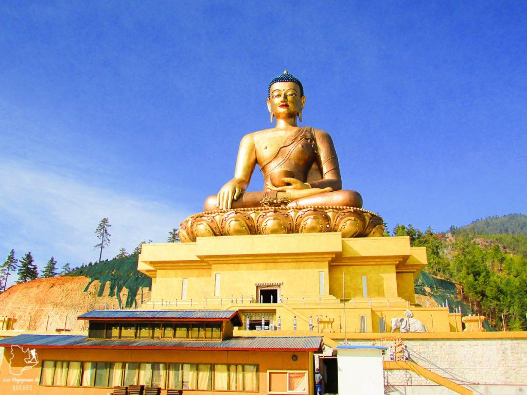 Le Bouddha Dordenma, à visiter au Bhoutan dans notre article Visiter le Bhoutan : Voyage dans ce petit royaume enchanteur hors du temps #bhoutan #asie #voyage