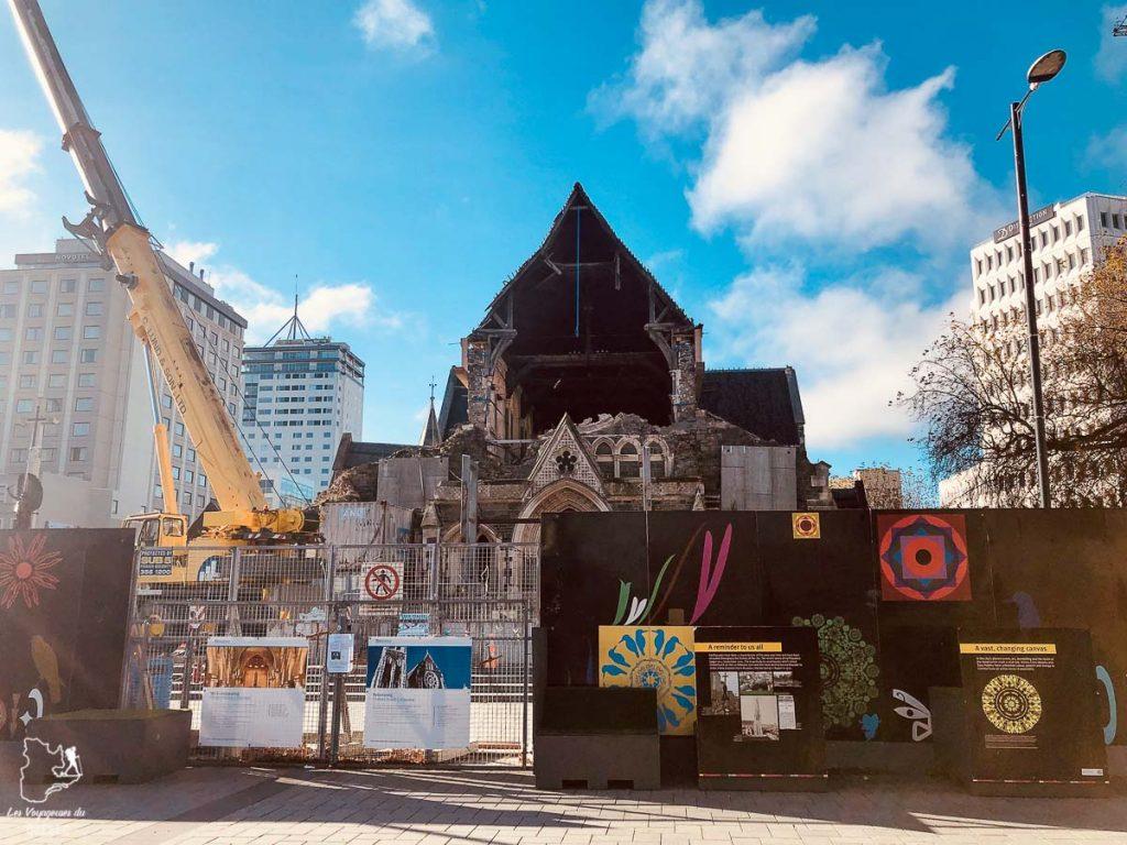 Cathédrale Square à Christchurch dans mon itinéraire sur l'île du Sud en Nouvelle-Zélande dans notre article Île du Sud en Nouvelle-Zélande : Incontournables et itinéraire détaillé de mon road trip #nouvellezelande #ile #sud #itineraire #voyage #oceanie #roadtrip