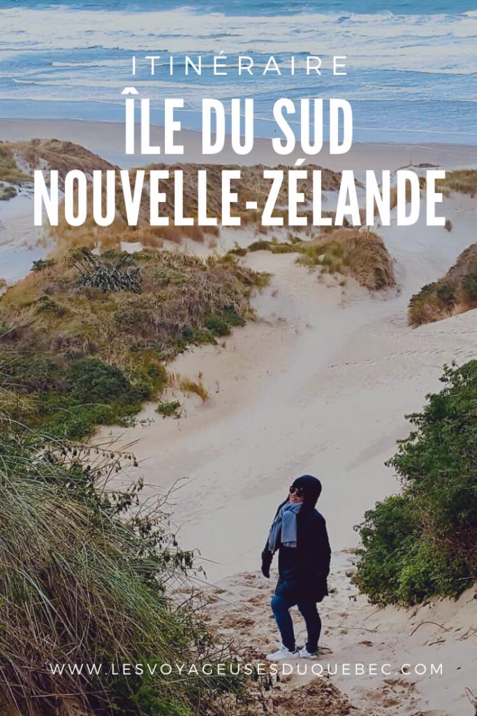 Mon itinéraire sur l'île du Sud en Nouvelle-Zélande