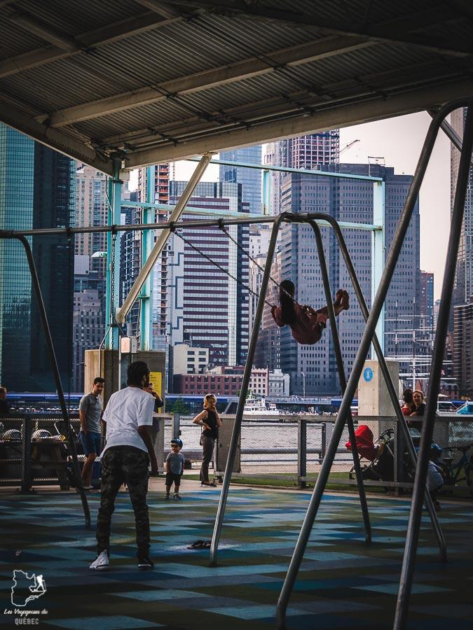 Points de vue de New York depuis le Pier 2 à Brooklyn dans notre article Les meilleurs points de vue de New York et endroits pour photographier la ville #newyork #usa #etatsunis #vue #panoramique #pointsdevue