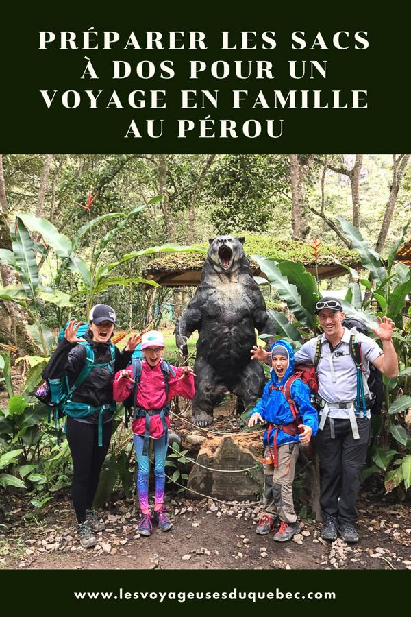 Préparer les sacs à dos pour un voyage au Pérou en famille #famille #voyage #perou #sacados