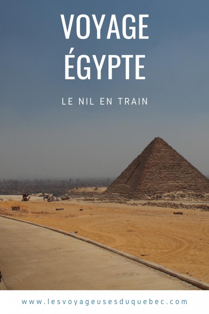 Voyage sur le Nil en Égypte : le Nil en train