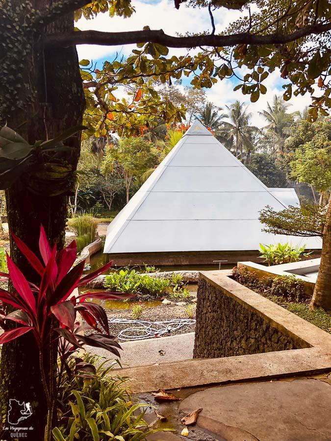 Pyramide of Chi à Ubud à Bali dans notre article 7 jours dans un Ashram à Bali : Ma retraite de yoga et de méditation à Bali #bali #ashram #indonesie #retraite #yoga #meditation