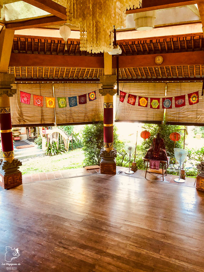 Lieu de méditation et de yoga à Bali au Anand Ashram dans notre article 7 jours dans un Ashram à Bali : Ma retraite de yoga et de méditation à Bali #bali #ashram #indonesie #retraite #yoga #meditation