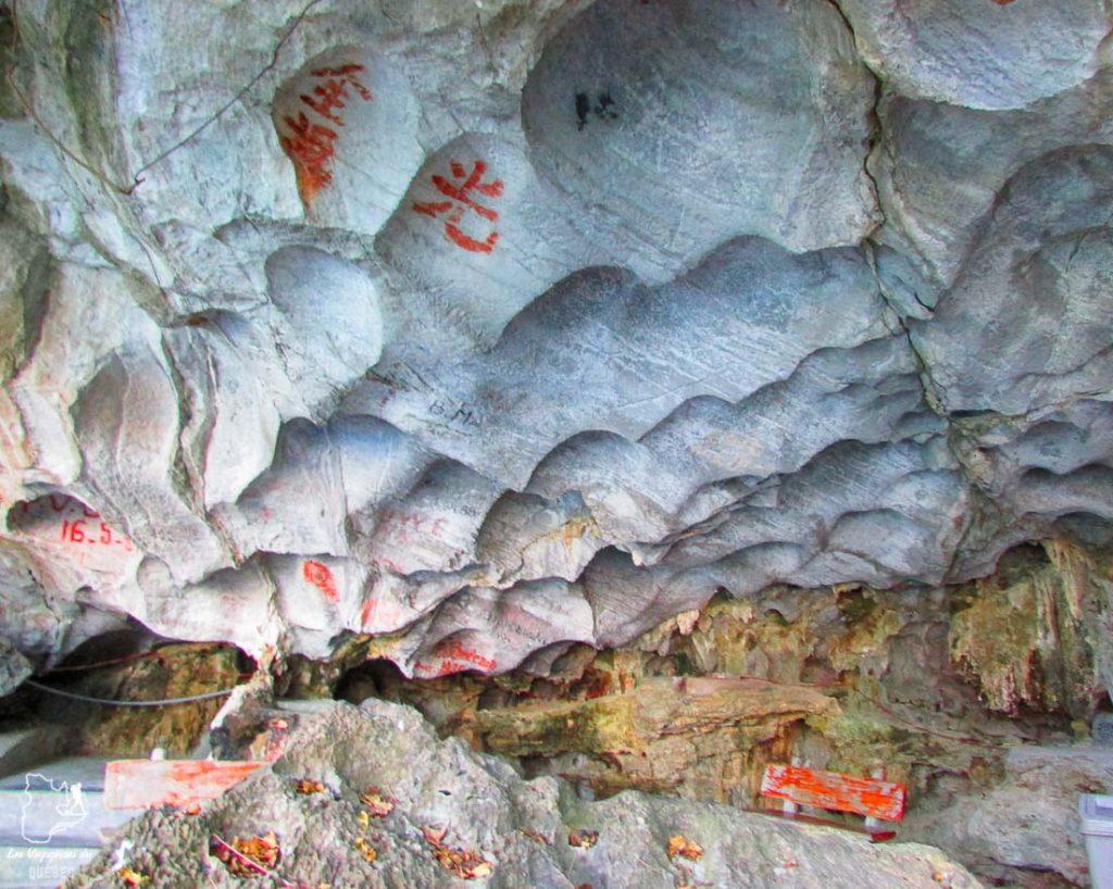 Graffitis dans une grotte au Vietnam dans notre article Mon tour du monde d'un an à 50 ans : le voyage d'une vie #tdm #tourdumonde #voyage #voyageunan #senior