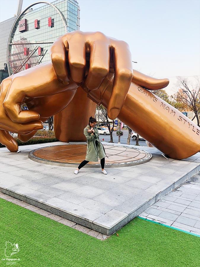 Statue du quartier Gangnam de Séoul dans notre article Visiter Séoul : Que faire à Séoul, la capitale de la Corée du Sud #seoul #coreedusud #asie #voyage