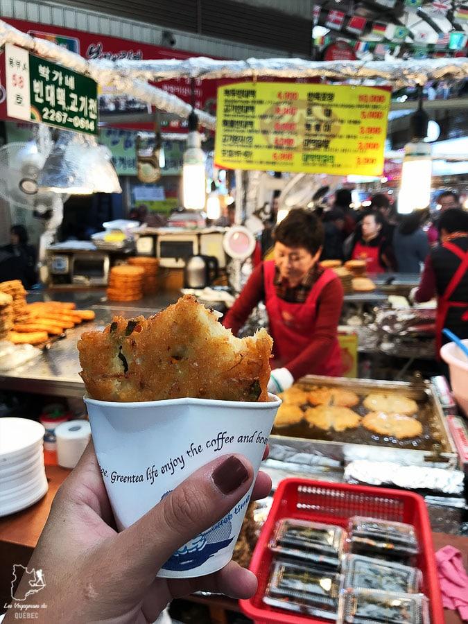 Le marché de Gwangjang de Séoul pour découvrir des spécialités locales dans notre article Visiter Séoul : Que faire à Séoul, la capitale de la Corée du Sud #seoul #coreedusud #asie #voyage