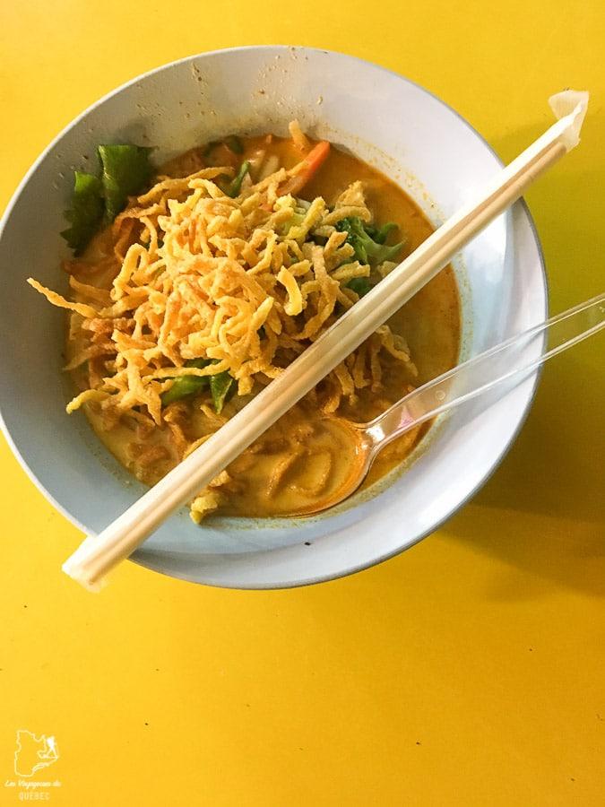 Kao Soi végétarien à Chiang Rai dans notre article Visiter le nord de la Thaïlande hors des sentiers battus #thailande #nord #horsdessentiersbattus #asie #asiedusudest #voyage