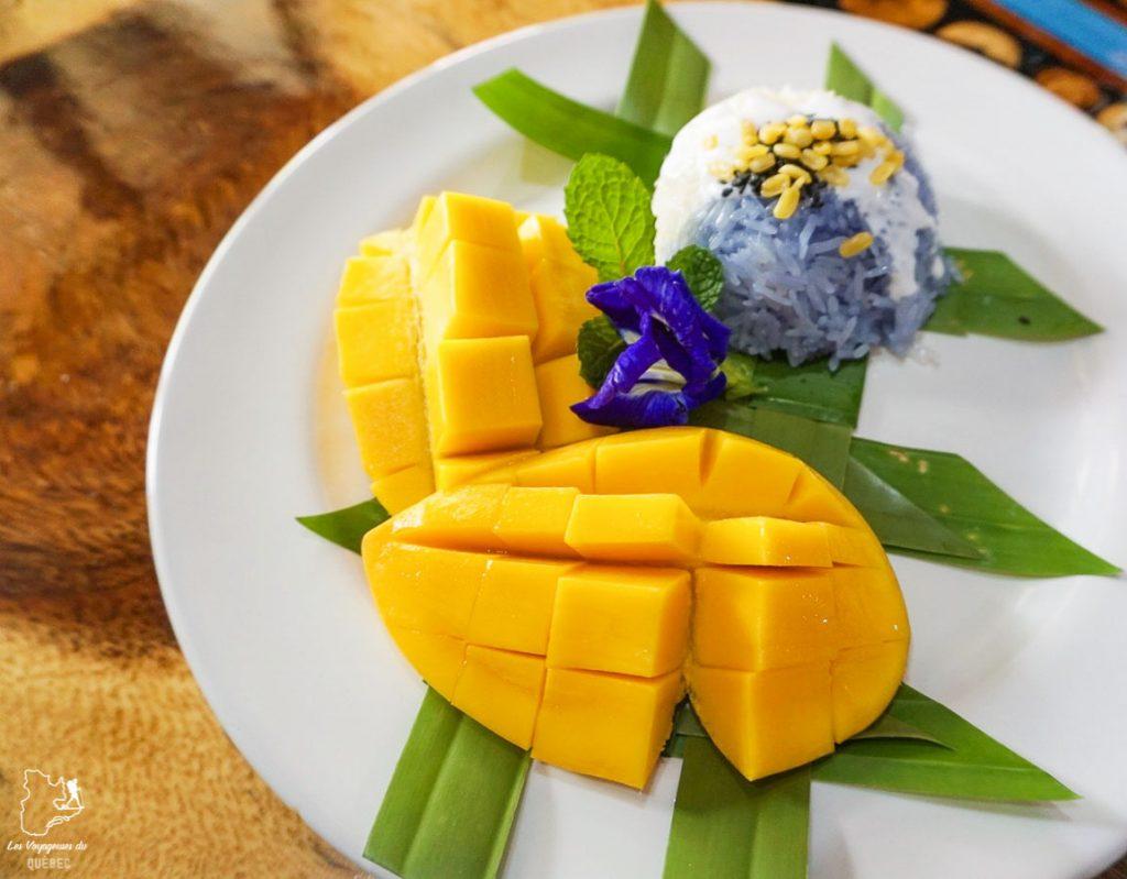 Mango sticky rice, à tester dans le nord de la Thaïlande dans notre article Visiter le nord de la Thaïlande hors des sentiers battus #thailande #nord #horsdessentiersbattus #asie #asiedusudest #voyage