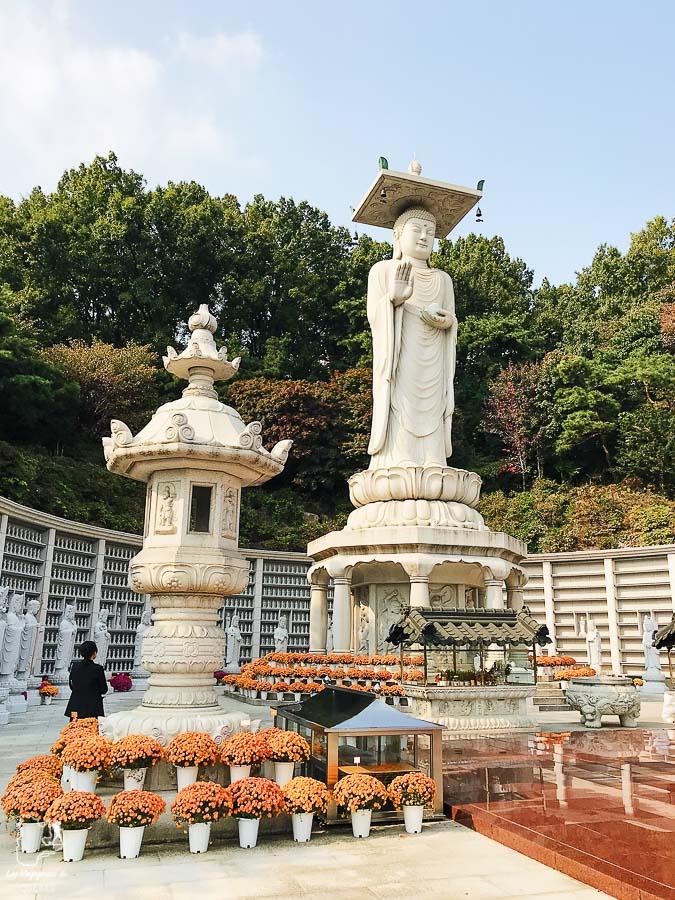 Temple de Bongeunsa de Séoul dans notre article Visiter Séoul : Que faire à Séoul, la capitale de la Corée du Sud #seoul #coreedusud #asie #voyage