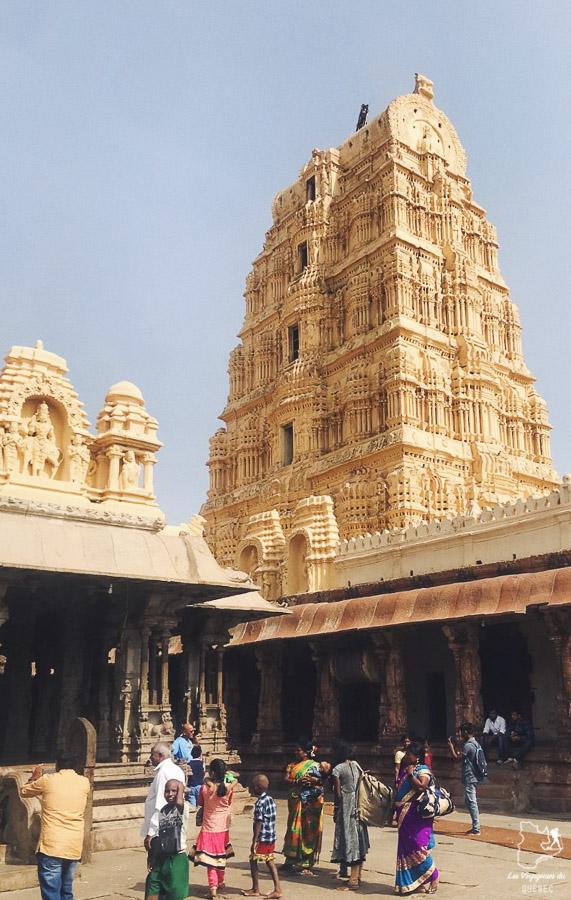 Hampi et ses temples sur que voir en Inde du Sud dans notre article sur Que voir en Inde du Sud : Mon itinéraire de voyage dans le sud de l'Inde #inde #indedusud #suddeinde #voyage #asie #itineraire