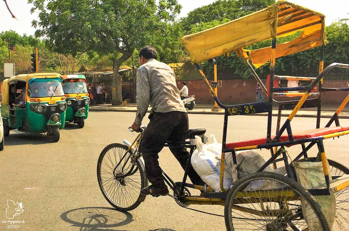 Rickshaw, un moyen de transport dans les villes de l'Inde dans notre article Bus et train en Inde : Démystifier la réservation de train en Inde et de bus #train #bus #inde #voyage #transport #sedeplacer