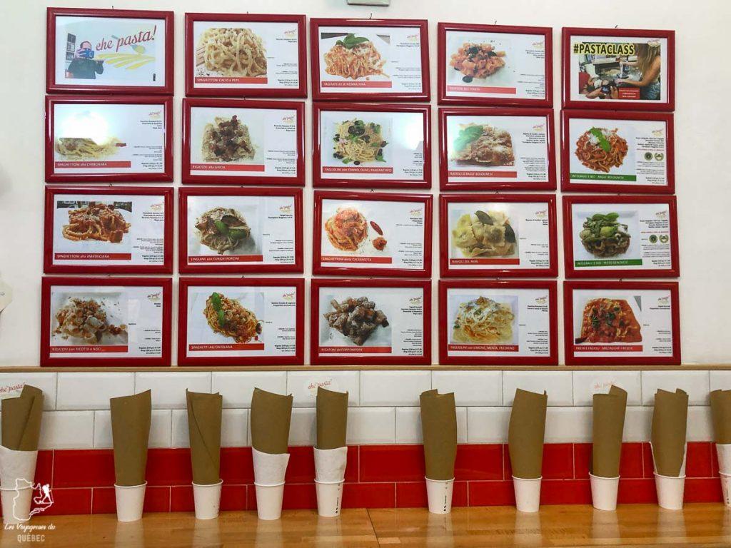 Restaurant Che Pasta, où manger à Rome dans notre article Visiter Rome en 4 jours : Que faire à Rome, la capitale de l'Italie #rome #italie #europe #voyage