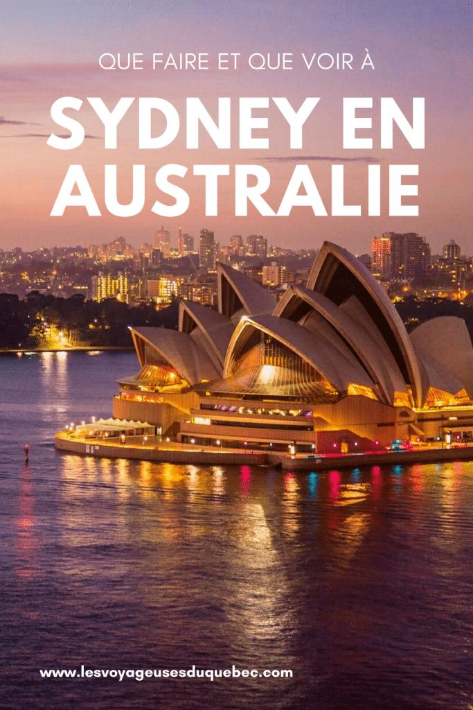 Visiter Sydney en Australie : Que faire à Sydney