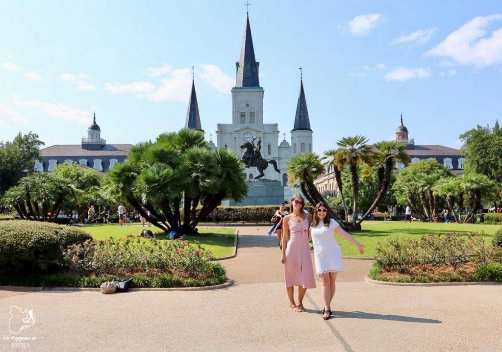 Jackson Square, incontournable de la Nouvelle-Orléans dans notre article 5 incontournables de la Nouvelle-Orléans à visiter en 3 jours #nouvelleorleans #louisiane #usa #etatsunis #voyage #amerique
