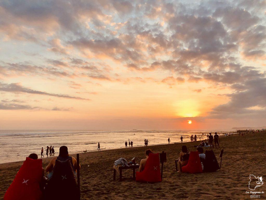 Plage de Canggu à Bali dans notre article Voyage à Bali : 1 mois à visiter Bali en Indonésie entre découvertes et farniente #bali #indonesie #asie #voyage #ile