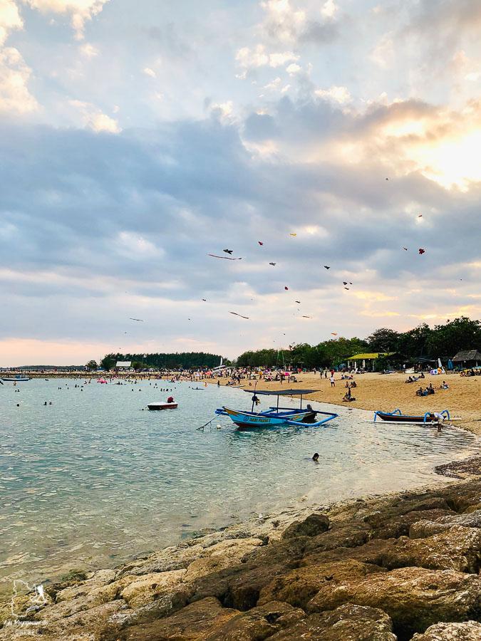 Plage de Sanur à Bali dans notre article Voyage à Bali : 1 mois à visiter Bali en Indonésie entre découvertes et farniente #bali #indonesie #asie #voyage #ile