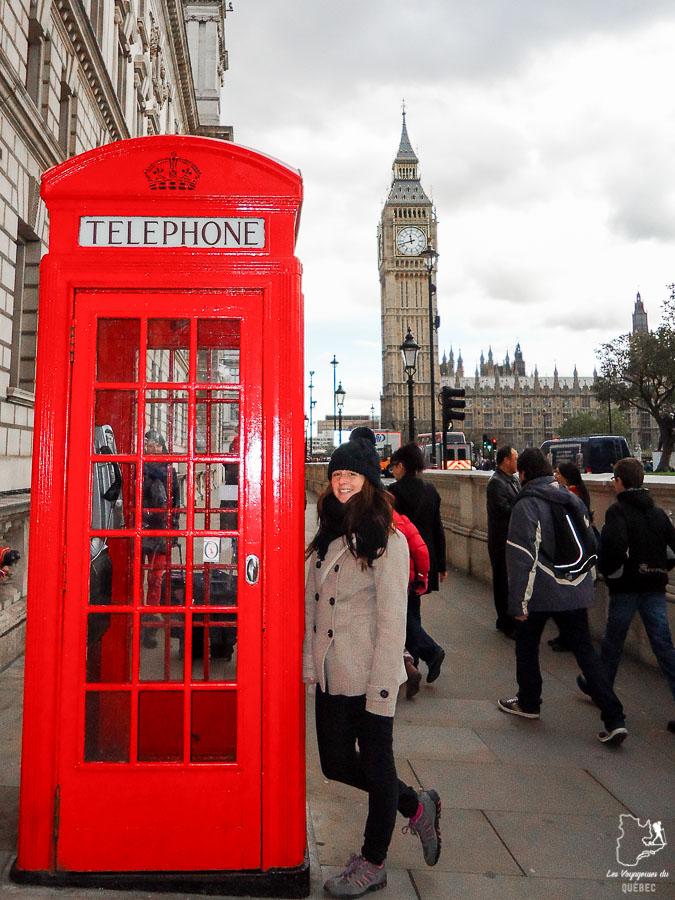 Cabine téléphonique à Londres dans l'article Visiter Londres : que faire et que voir avec un petit budget #londres #pascher #angleterre #royaumeunis #voyage #europe