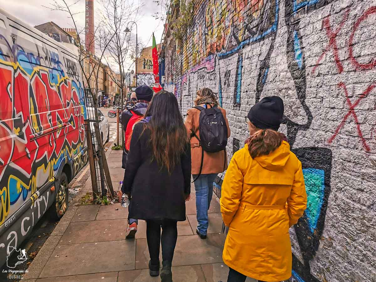 Street Art dans le quartier Shoreditch à Londres dans l'article Visiter Londres : que faire et que voir avec un petit budget #londres #pascher #angleterre #royaumeunis #voyage #europe